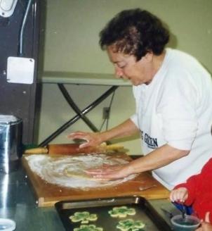 Nana making cookies alone